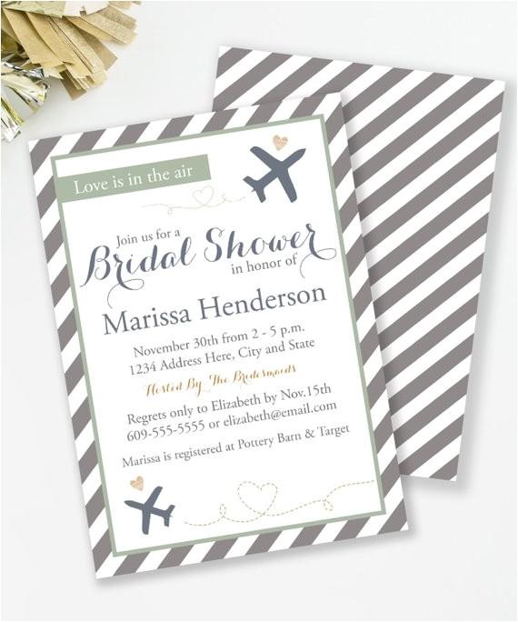 travel bridal shower invitation travel