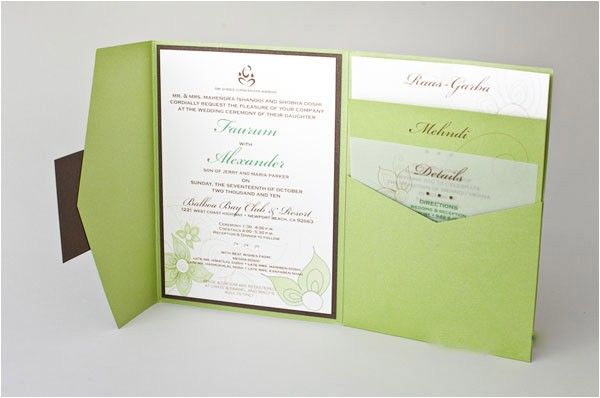 natura color tri fold pocket invitations hpi268 p 408