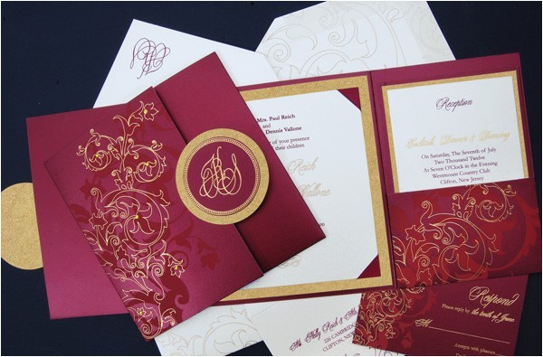 Tri Fold Wedding Invitations with Pocket Square Tri Fold Pocket Wedding Invitation