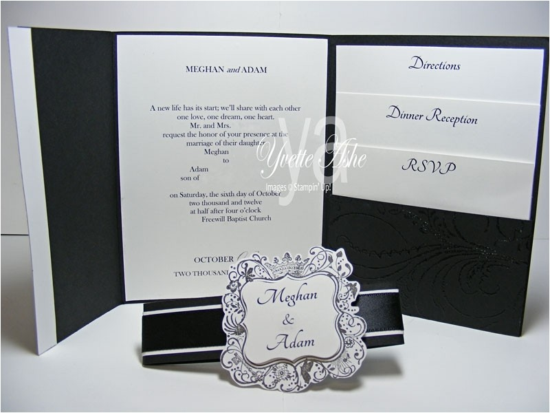 tri fold wedding invitations with pocket 112213528