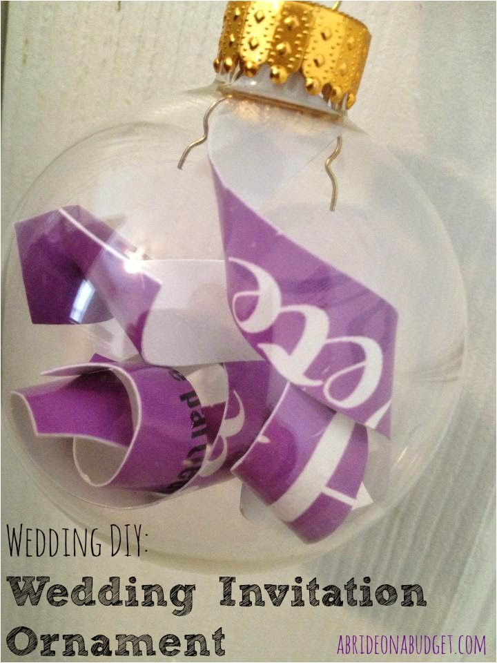 diy wedding invitation ornament