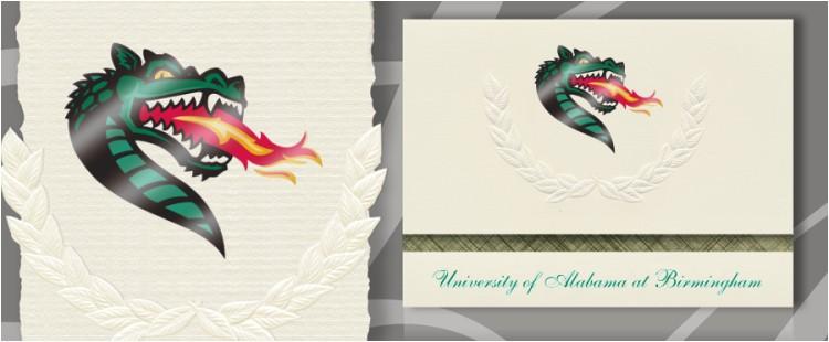 university of alabama at birmingham graduation announcements