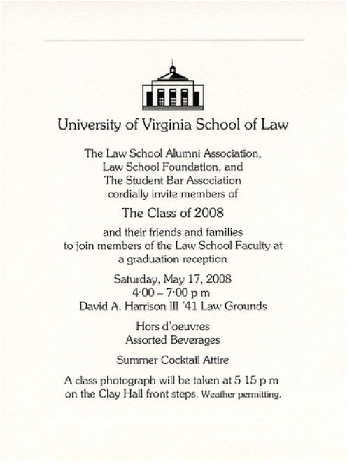 example of college graduation invitation