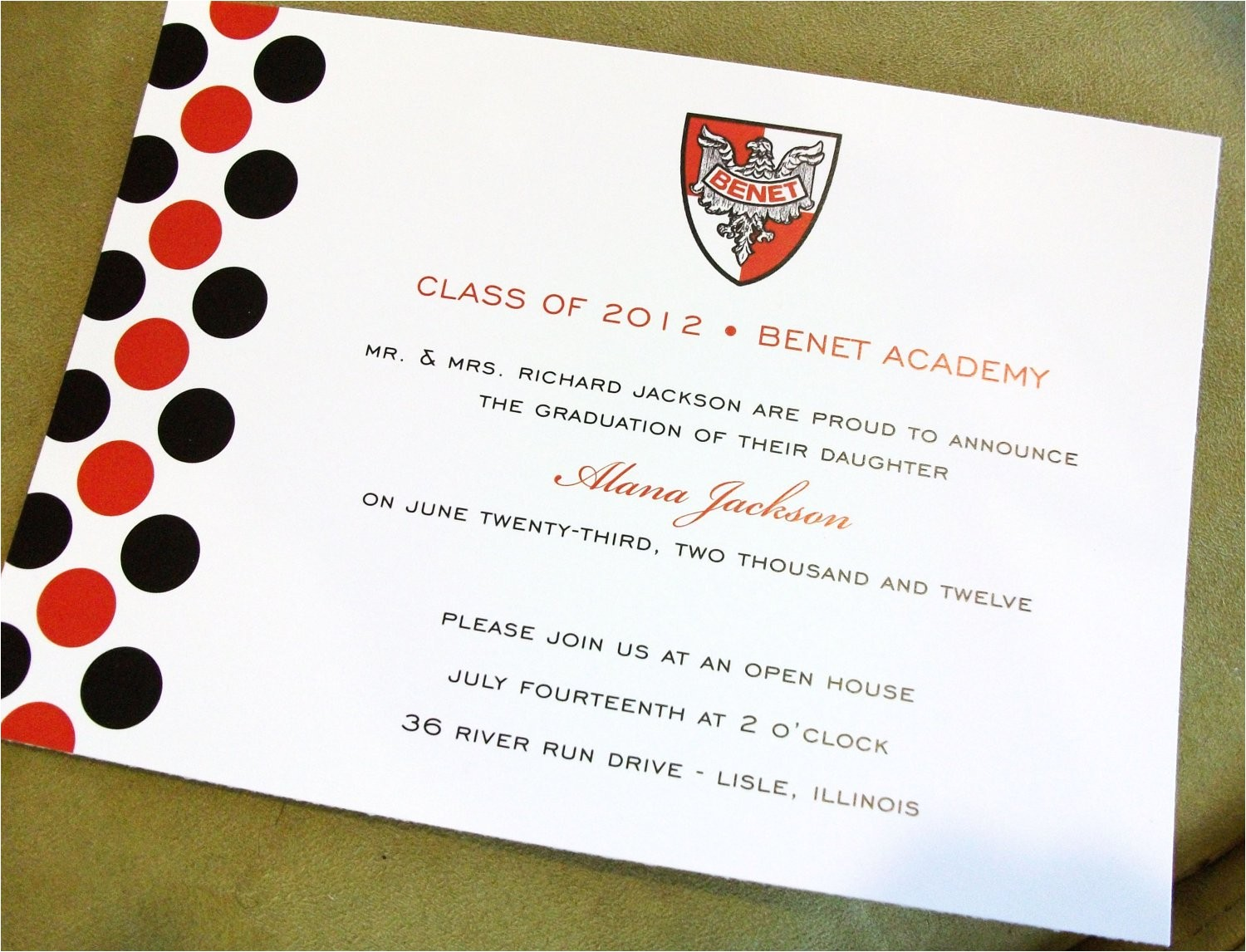 graduation announcements customized with