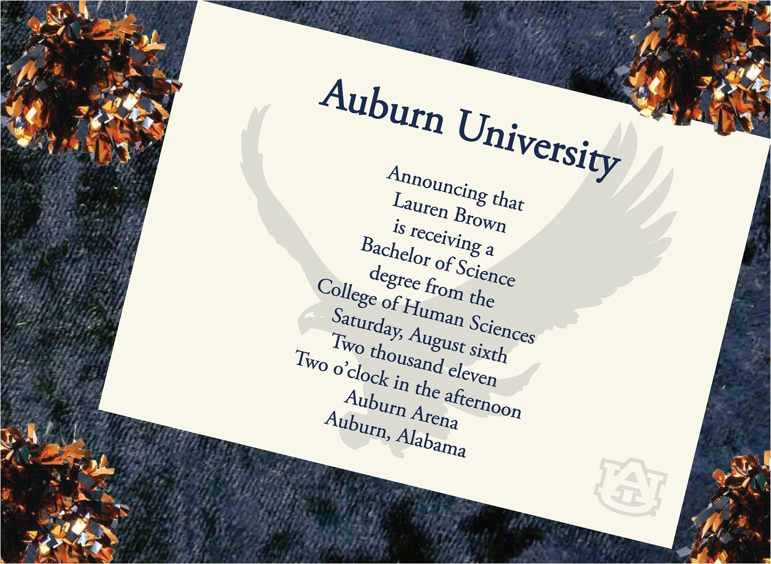 auburn university graduation