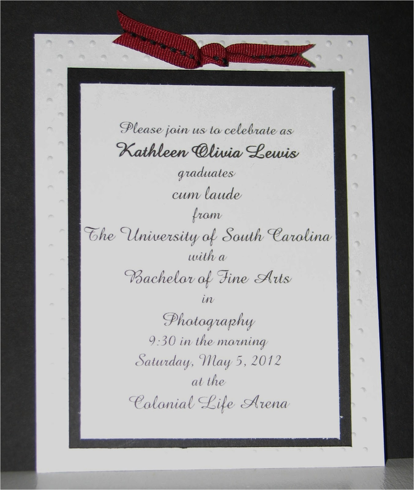 easy hand made graduation invitation
