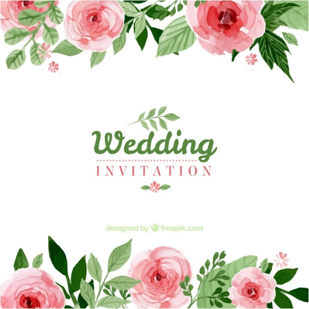 floral wedding invitation 794552