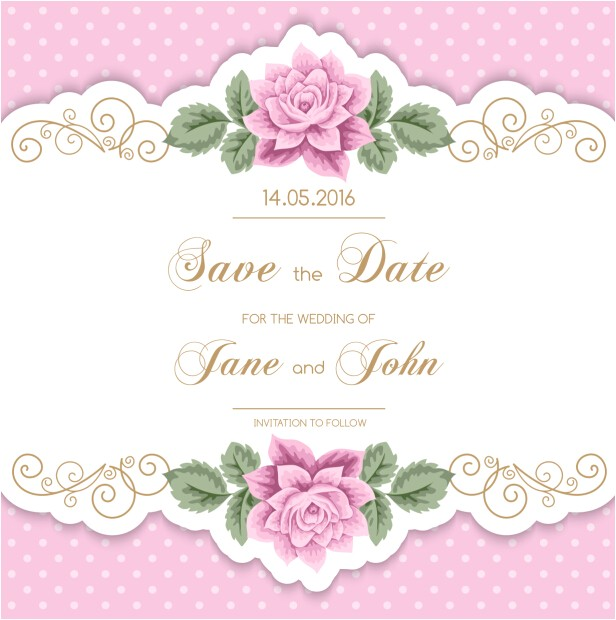 217200 vintage flower with wedding invitation vector 14