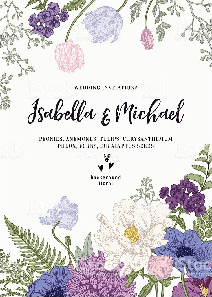 wedding invitation with flowers gm604383390 103803207