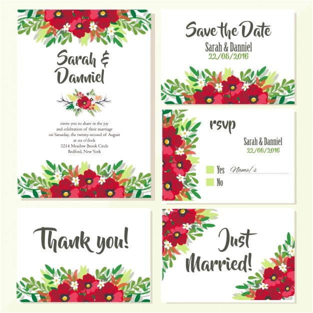 wedding invitations floral design 909635