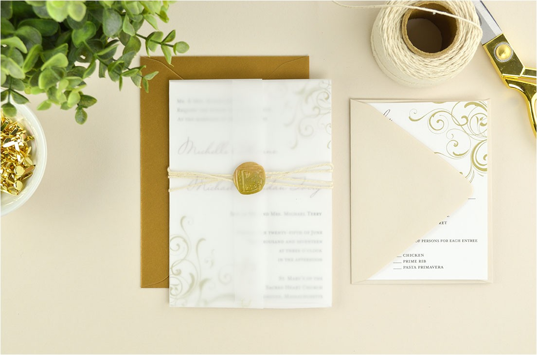 4 ways to diy elegant vellum wedding invitations