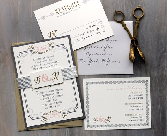 art deco elegant script wedding