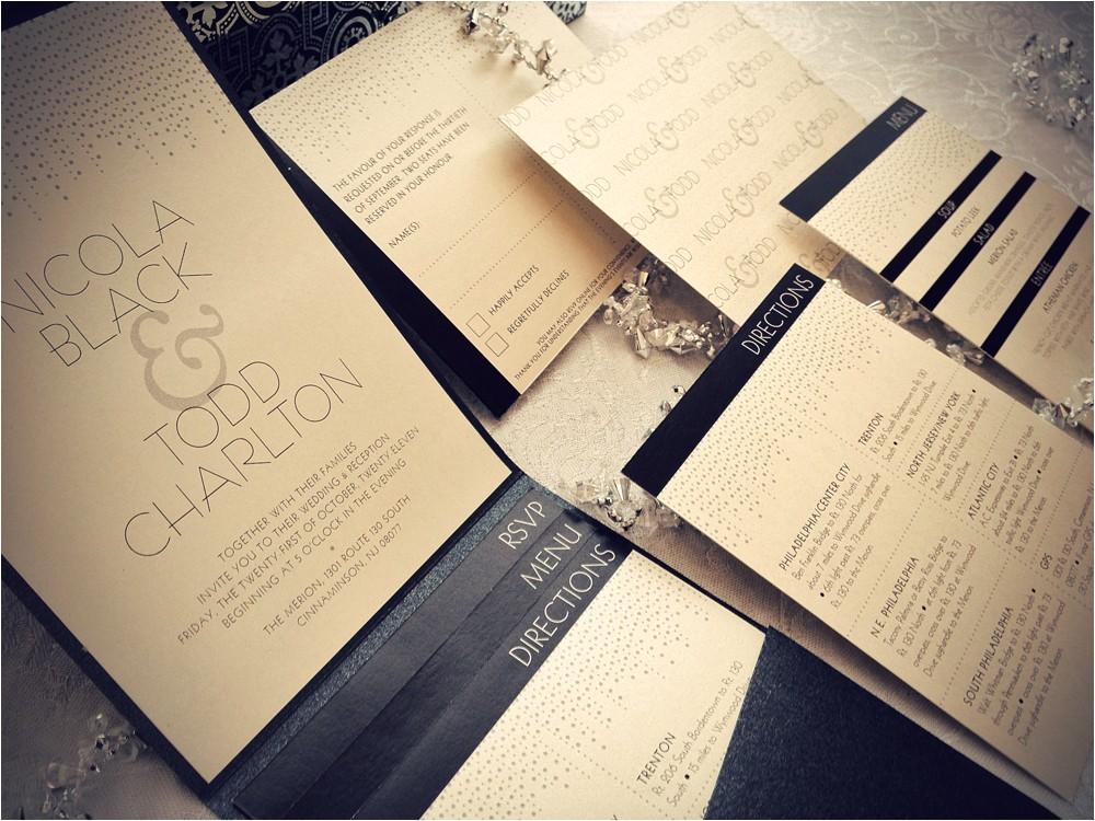 glamour wedding invitations