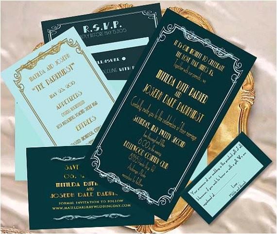 old hollywood glamour wedding invitation by creativeartbysheila on etsy com