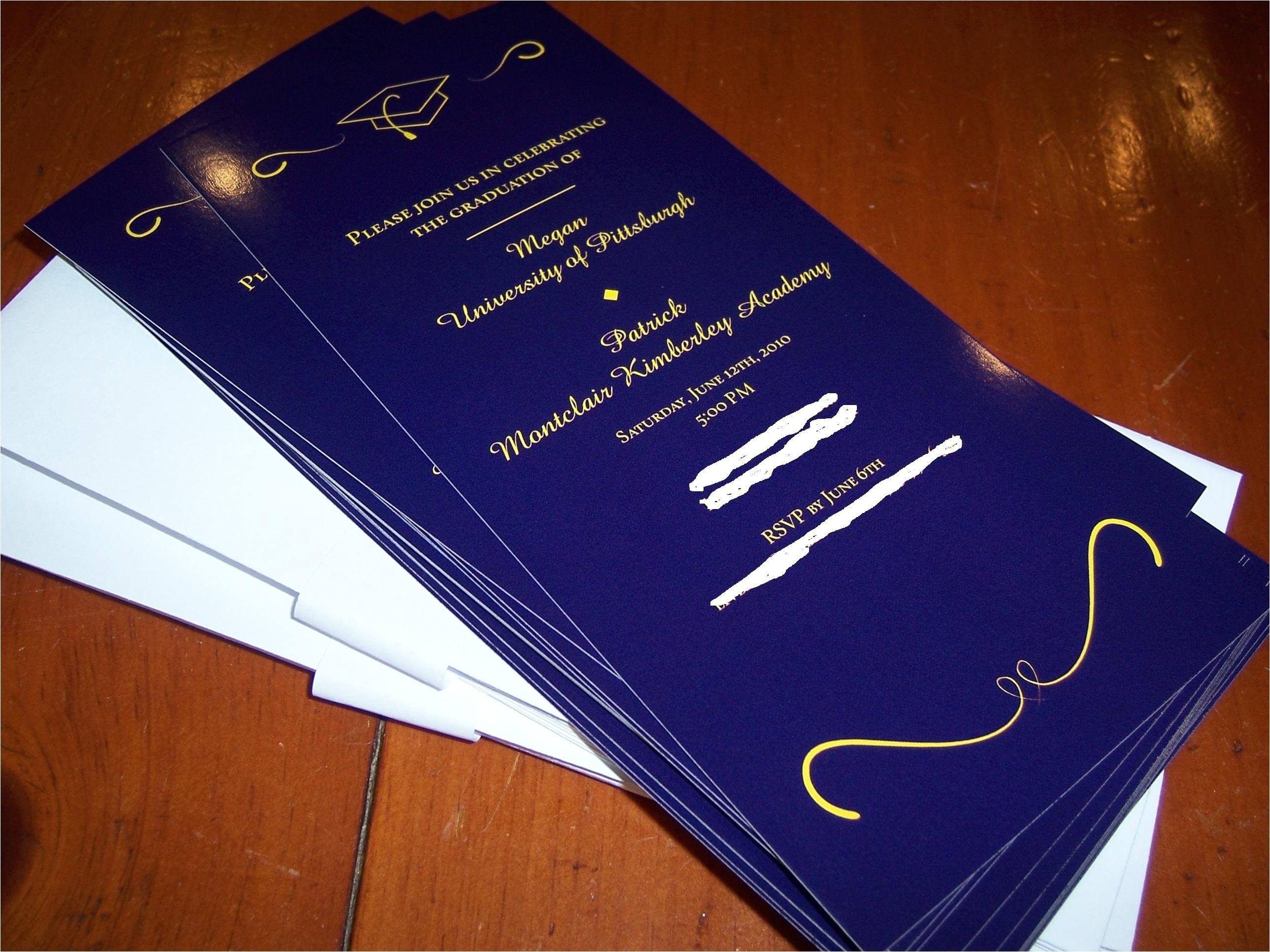 Vistaprint Graduation Invitations Vista Print Graduation Invitations Oxsvitation Com