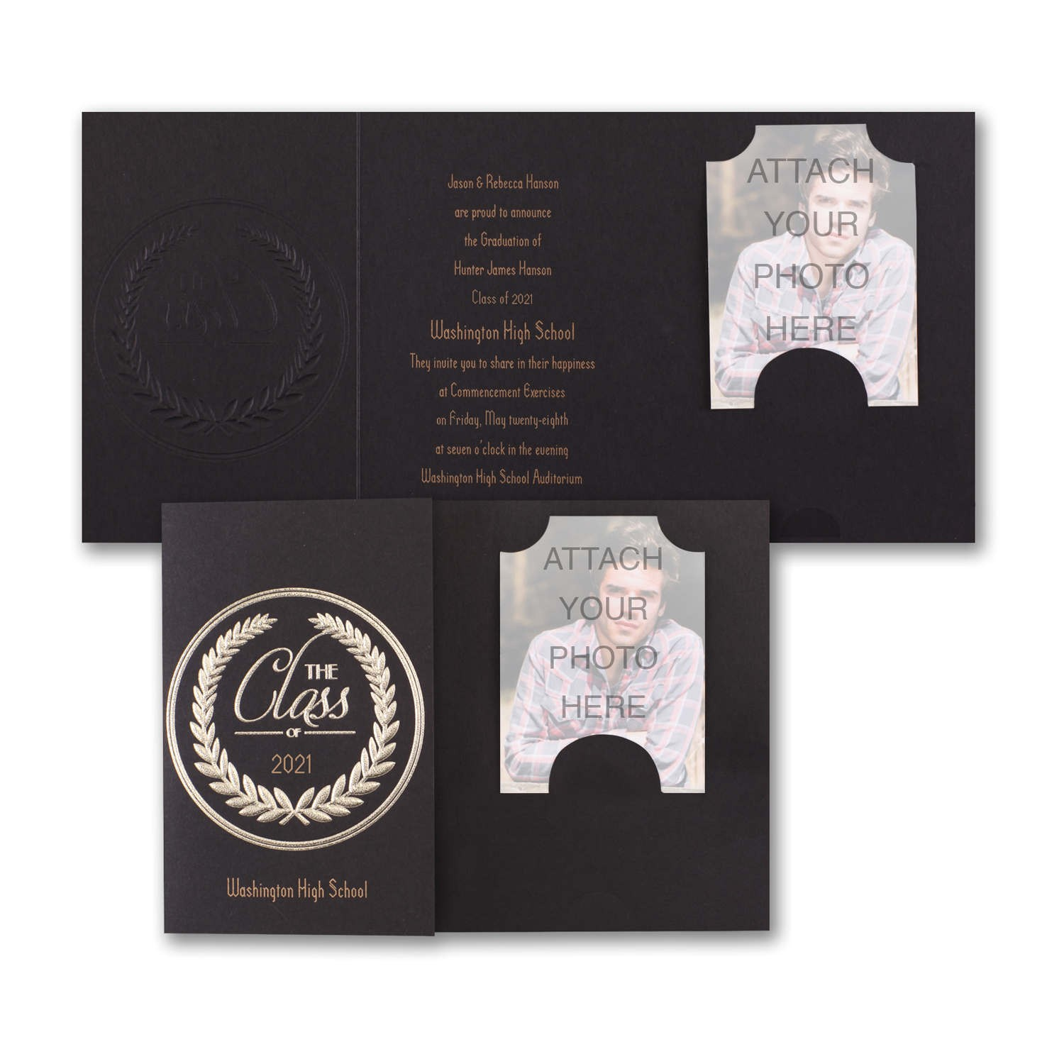 graduation announcements black and gold
