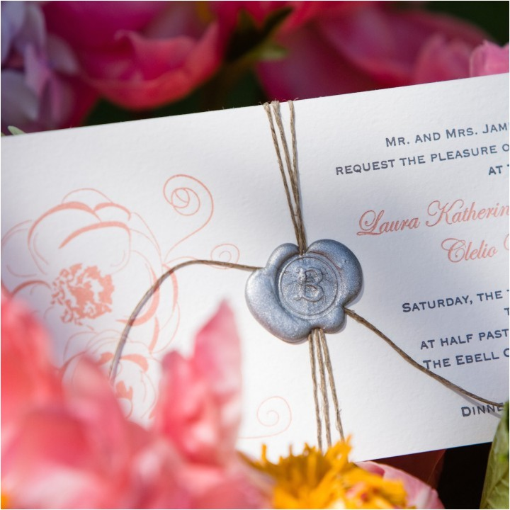 loving wedding invitation wax seals