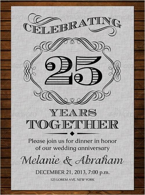Wedding Anniversary Invitation Templates 19 Anniversary Invitation Template Free Psd format