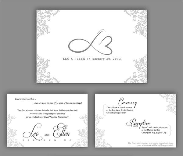 wedding anniversary invitation card
