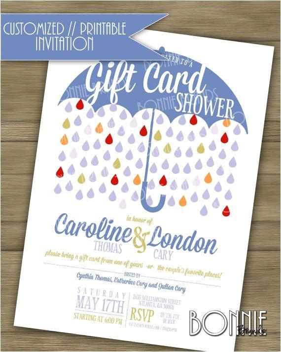 gift card shower