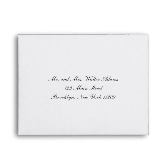 wedding invitation envelope addressing service