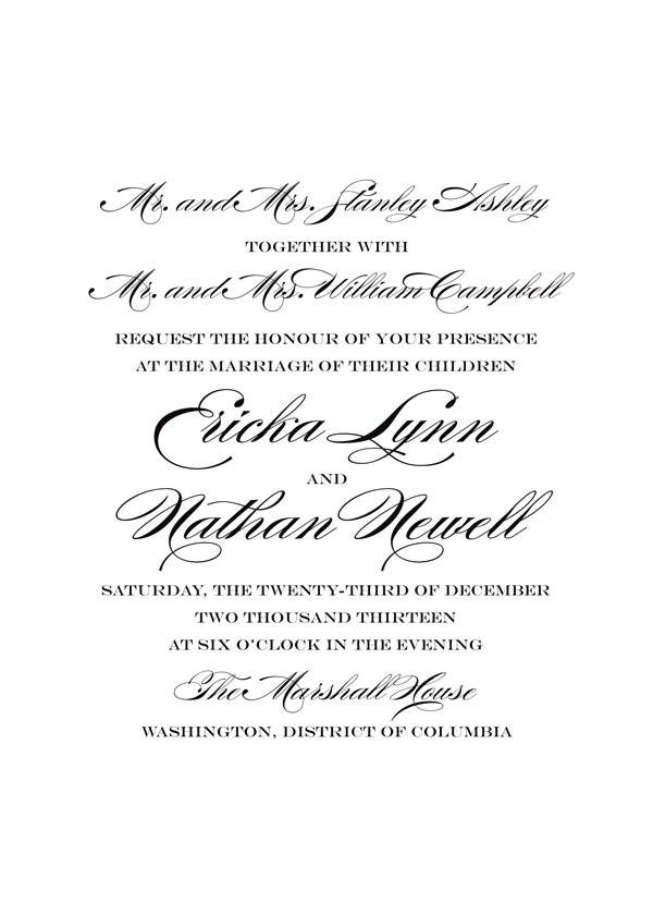 say it with style wedding invitation wording