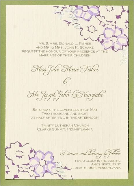 wedding invitation wording using both