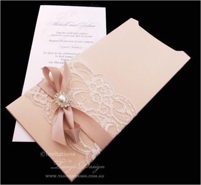 sparkle wedding invitation and envelope vintage lace wedding invitations 1x sample with czech crystal brooch embellishment