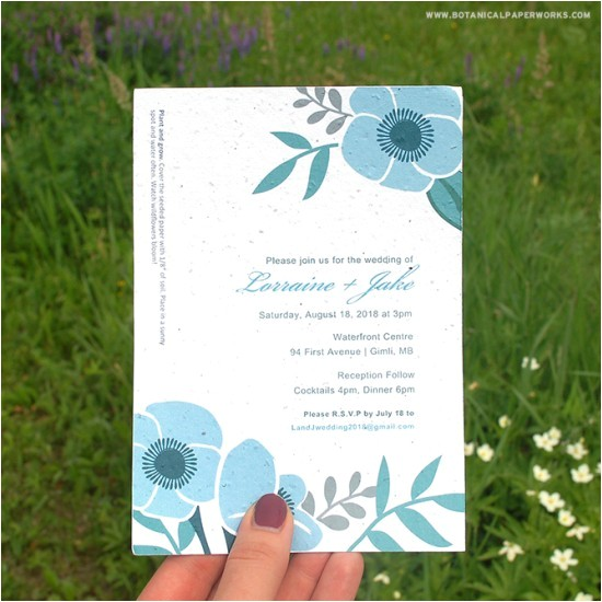 do it yourself seed wedding invitation kit