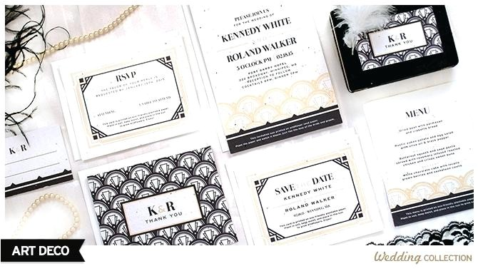 wedding invitations catalogs by mail these art deco weddi