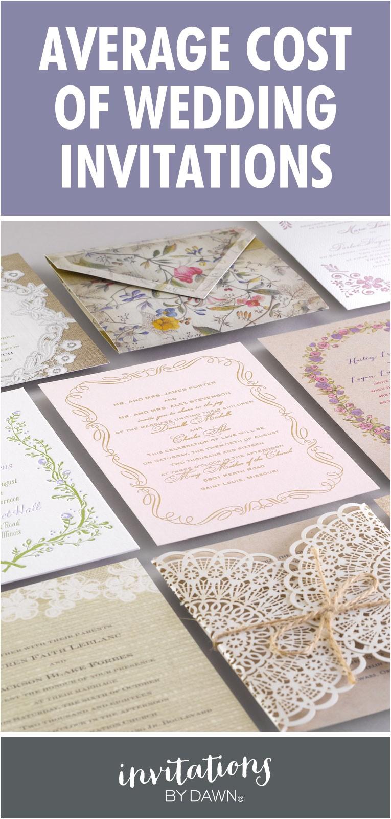 average cost of wedding invitations 13301