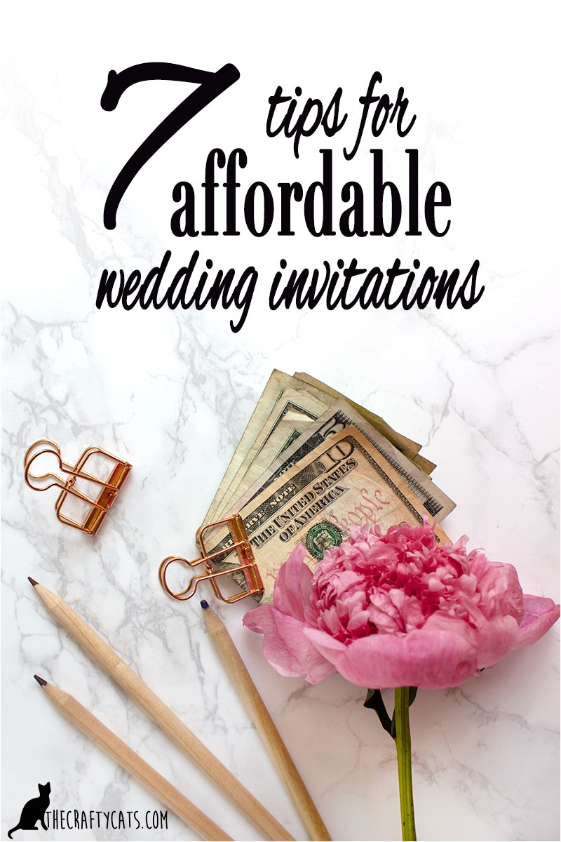 7 tips affordable wedding invitations