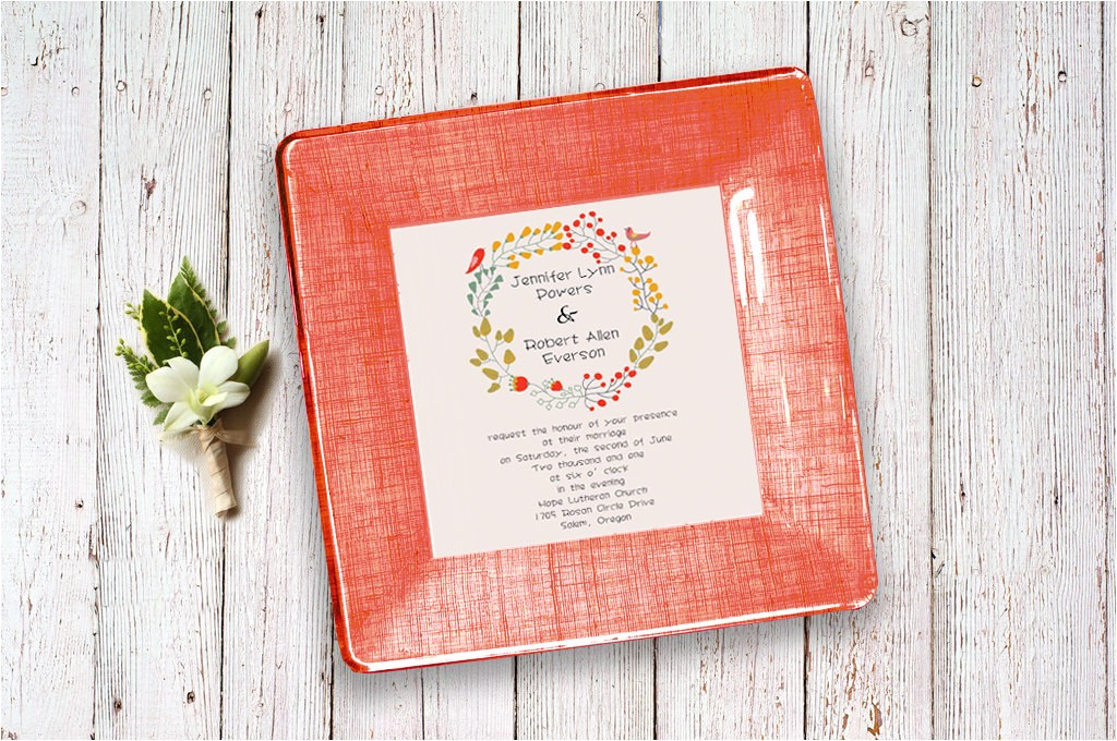 wedding invitation tray couples gift