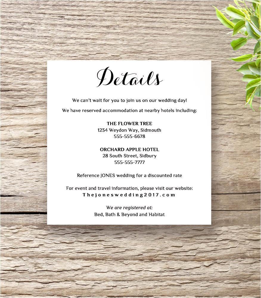 byron wedding invitation set template