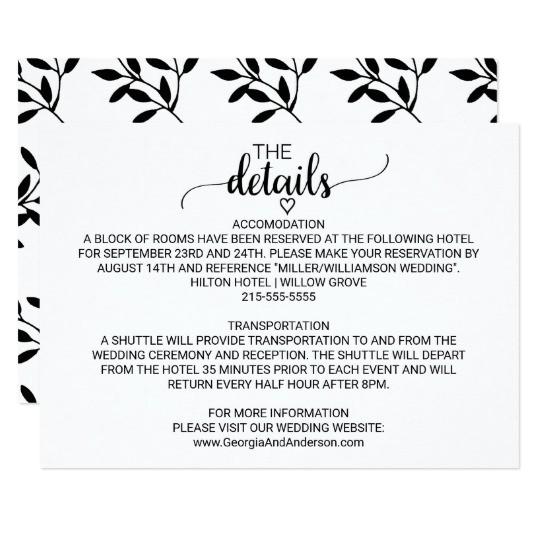 wedding invitation details wording