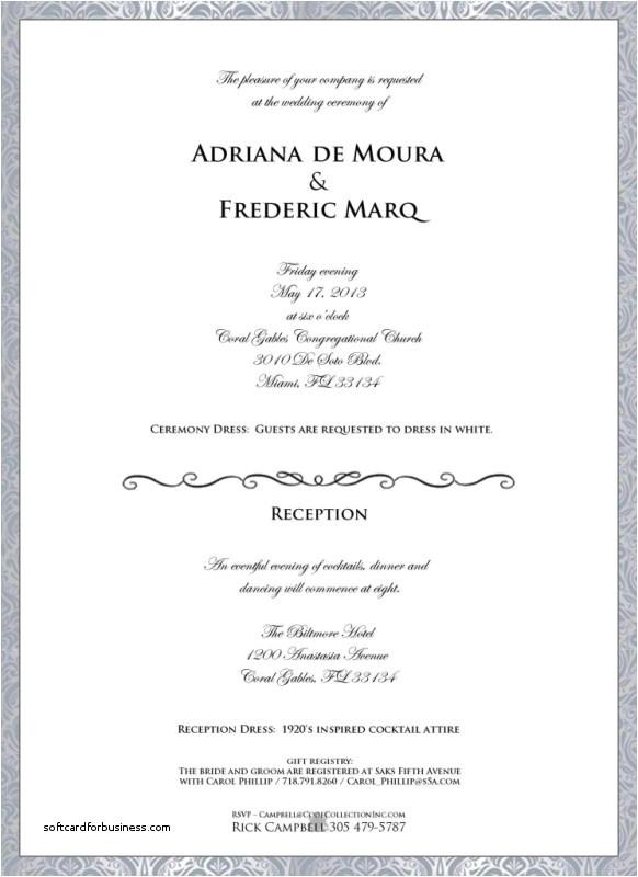 dress code wedding invitation