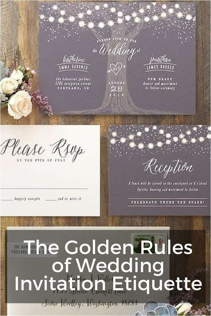 the golden rules of wedding invitation etiquette wording addressing properly