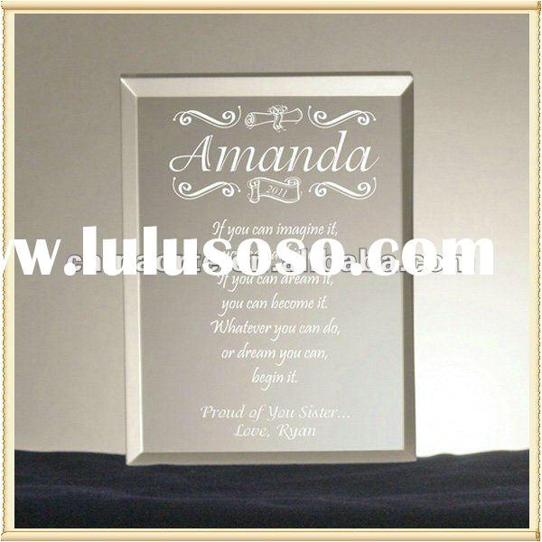 our wedding invitation crystal engraved keepsake