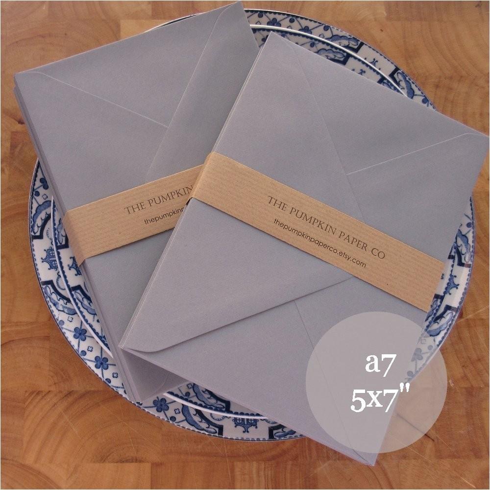 100 5x7 grey envelopes a7 wedding