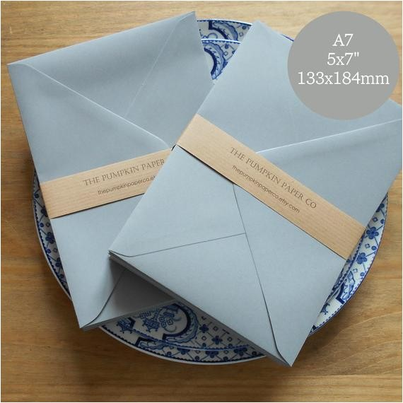 50 5x7 envelopes a7 grey envelopes
