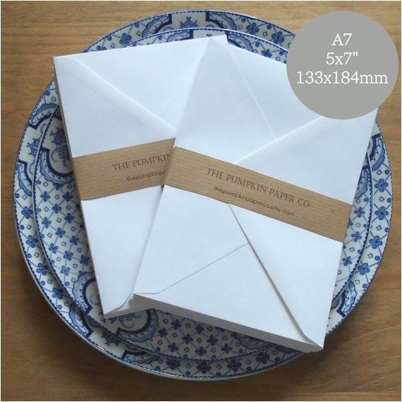 50 a7 envelopes 5x7 envelopes white