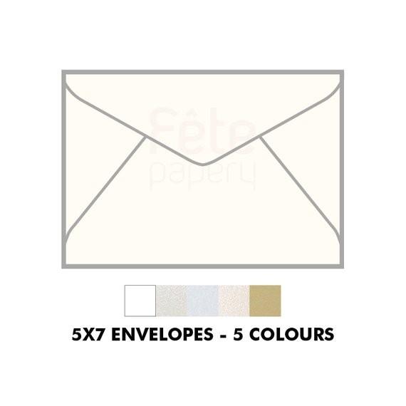 5x7 invitation envelopes 130x185 with