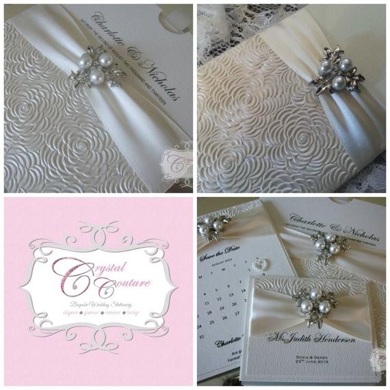 luxury handmade personalised wedding invitatio