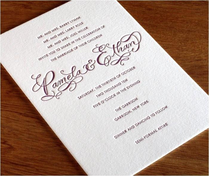 semi formal wedding invitation wording