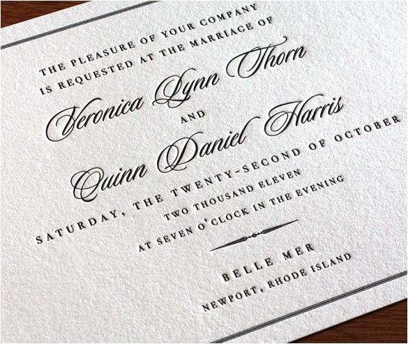 formal wedding invitation wording 3