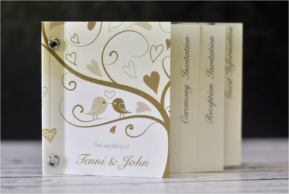 invitations mini book wedding invitation love birds