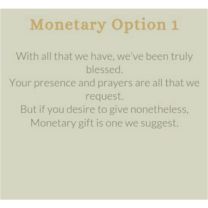 monetary gift wording