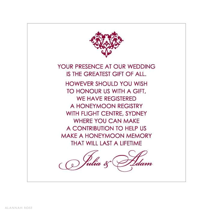 What Is The Appropriate Gift For A Wedding: Wedding Invitation Monetary Gift Wording