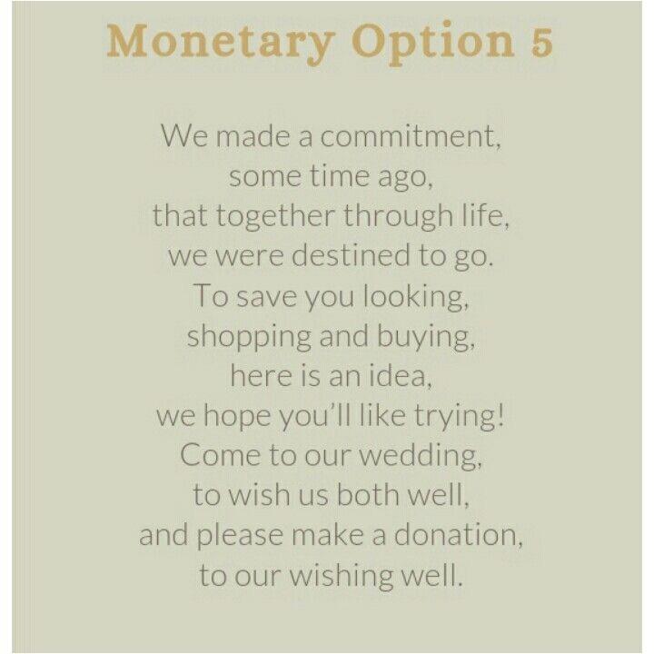 Monetary Gift Wedding Wording: Wedding Invitation Monetary Gift Wording