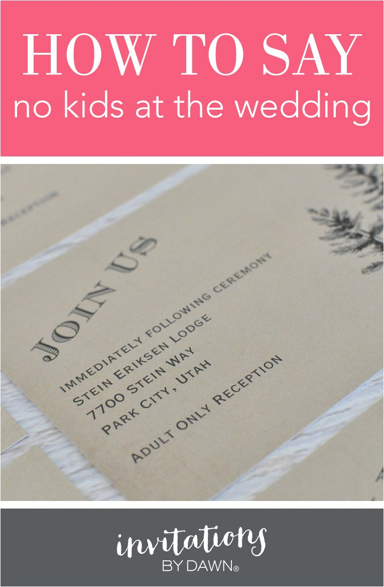 say no kids wedding 14151